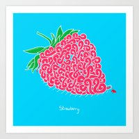 Strawberry. Art Print