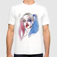 Margot as Harley quinn Fan art Mens Fitted Tee White SMALL