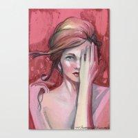 Strawberry Flirt Canvas Print