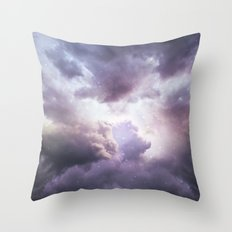 The Skies Are Painted II (Cloud Galaxy) Throw Pillow
