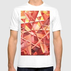 3D folded abstract SMALL Mens Fitted Tee White