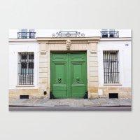 Envy - Ornate Parisian Door Canvas Print