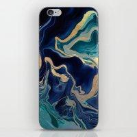 DRAMAQUEEN - GOLD INDIGO MARBLE iPhone & iPod Skin