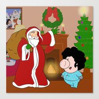 Santa Claus Came To Town… Canvas Print