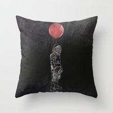 Balloon Astronaut Throw Pillow