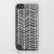 Herringbone – Black & … iPod touch Slim Case