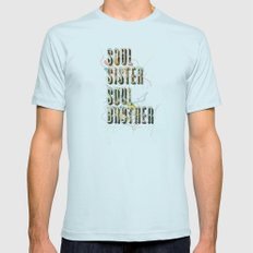 Soul Sister   Soul Brother - illustrations - Cover Mens Fitted Tee Light Blue SMALL