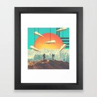 Over.the.mount//ain Framed Art Print