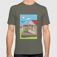 Skewed by Debbie Porter - Designs of an Eclectique Heart Mens Fitted Tee Lieutenant SMALL