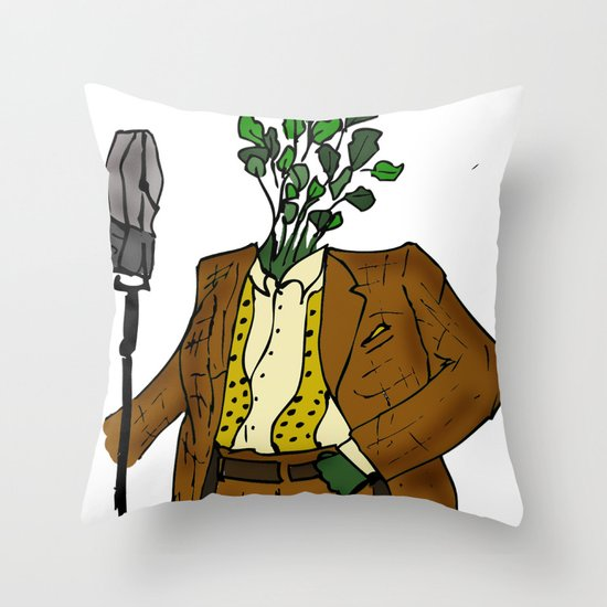 Frank Cilantro Throw Pillow