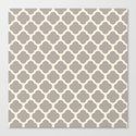gray clover Canvas Print