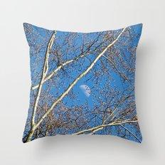 Springtime moon Throw Pillow