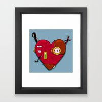 Robot Heart Framed Art Print