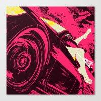 Fast Woman Canvas Print