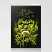 hulk Stationery Cards featuring HULK by dan elijah g. fajardo