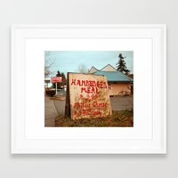 Framed Art Print featuring Hamburger deal by Vorona Photography