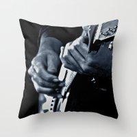 Music Has No Color Throw Pillow