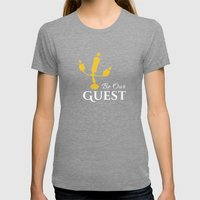 BE OUR GUEST  Womens Fitted Tee Tri-Grey SMALL