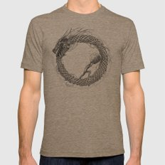 The Ouroboros / Uroboros and Sisyphus Mens Fitted Tee Tri-Coffee SMALL