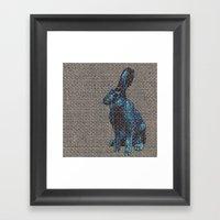 Blue Hare Framed Art Print