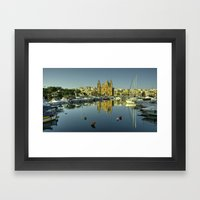 Valletta Reflected  Framed Art Print
