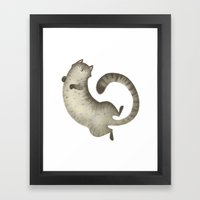 Happy Kitty Framed Art Print