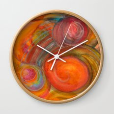 Sounds of Watercolors I Wall Clock