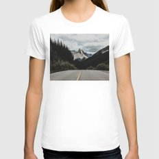 Mountain Road Womens Fitted Tee White SMALL