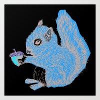 Squirrel In Colour Art Print