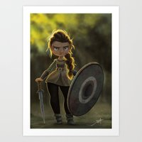 Viking Shieldmaiden Art Print
