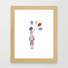 Baloons, up, UP and away! Framed Art Print