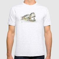 Hippo Mens Fitted Tee Ash Grey SMALL