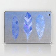 Blue Feather Laptop & iPad Skin