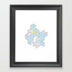 Triangle Tessel Cluster Framed Art Print