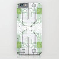 Circuit board green repeat iPhone 6 Slim Case