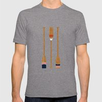 American Painted Oars Mens Fitted Tee Tri-Grey SMALL