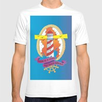Lighthouse I Mens Fitted Tee White SMALL