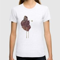 This is not a colorful heart Womens Fitted Tee Ash Grey SMALL