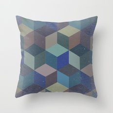 Dimension in blue Throw Pillow