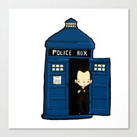 DOCTOR WHO IN TARDIS NIN… Canvas Print
