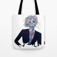 Pastel Light Four Eyes Tote Bag