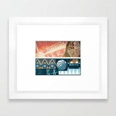 Korra and Amon Banners Framed Art Print