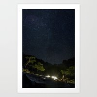 Chimaera and the Galaxy Art Print