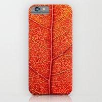 iPhone Cases featuring Macro Leaf by J.N.B.