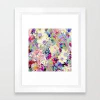 summery floral Framed Art Print