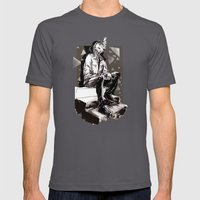 He smokes Mens Fitted Tee Asphalt SMALL