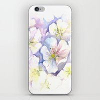 Cherry Blossoms Abstract Painting | Floral Watercolor iPhone & iPod Skin