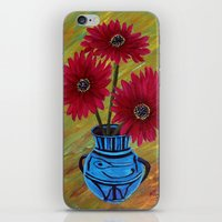 Blue vase with flowers/ still life  iPhone & iPod Skin