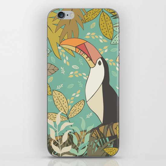 Forest Toucan  iPhone & iPod Skin