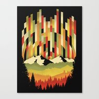 Sunset In Vertical Canvas Print